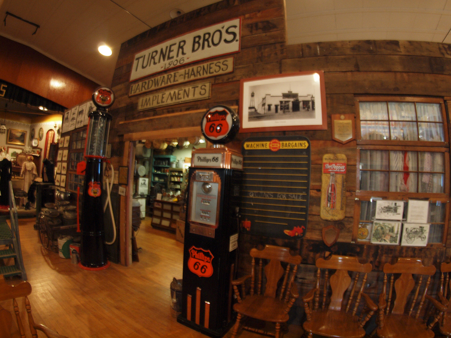 The former Turner Bros. store has been re-created inside the museum and stocked with original fixture and merchandise.