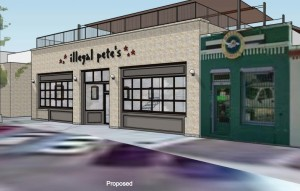 Preliminary concept Idea of what Illegal Pete's may look like once the building is renovated.