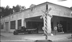 House & Humphrey Texaco at the corner of Mason and Oak Streets.