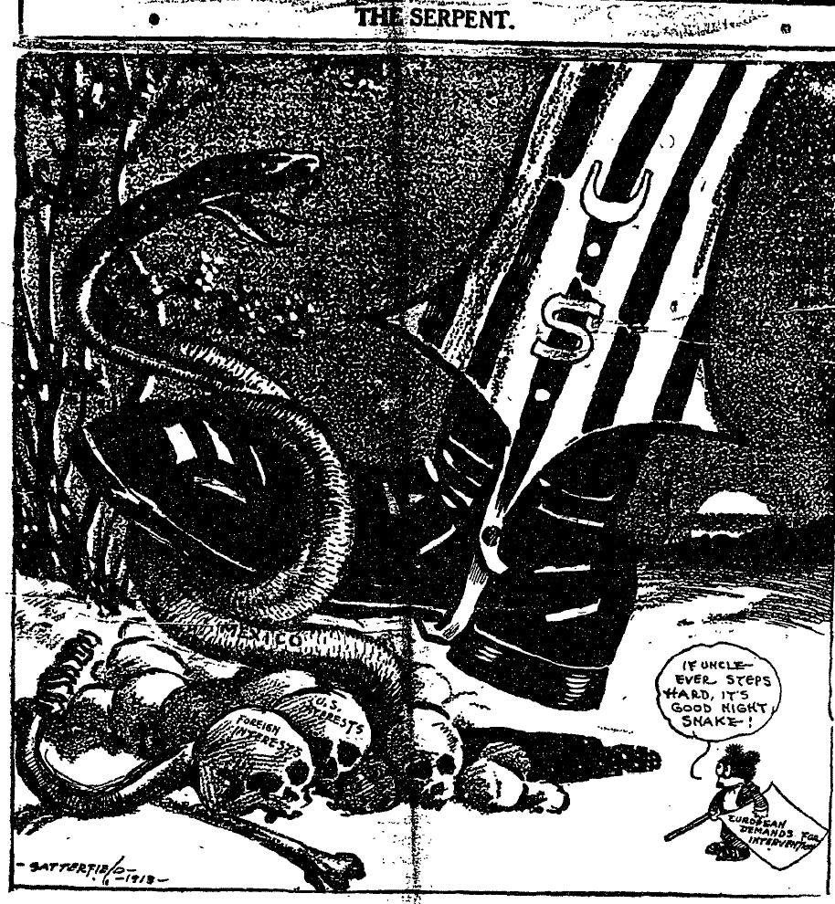 If the United States intervene in the Mexican Revolution, it risked damaging its own and foreign interests.