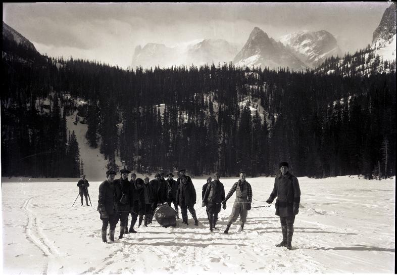 Ski trip to Fern and Odessa lakes - dated 1928.