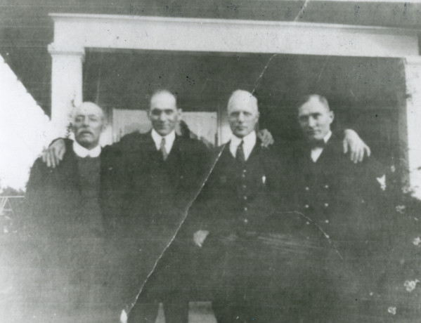 Henry Frey with sons Ernest, Hugo, and Charlie. (Photo from the Fort Collins Archive.)