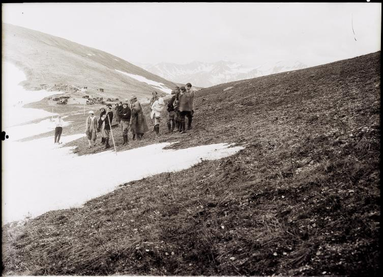 Hiking Group in Rocky Mountain National Park - dated July 2, 1926.