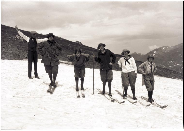 Summer skiing in Milner Pass.