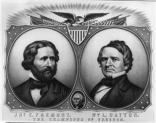 John C. Frémont ran for president in 1856, on a far more public anti-slavery platform than Abraham Lincoln later used.  William Dayton was Frémont's running mate. When Frémont emancipated the slaves of Missouri without first consulting Washington D. C. at the start of the Civil War, President Lincoln was forced to remove him from his position in order to mollify those in the Republican party that were not abolitionists.
