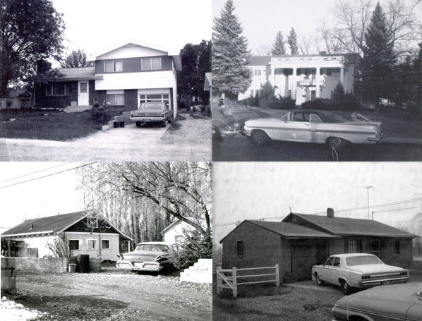 Old cars around town -- photos from the 1960s and 70s in Fort Collins.