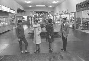 University Plaza (shown here in 1966) was a hip new place to shop.