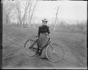 Clara Preston Halderman at Preston Farm in the 1890s. (From the Fort Collins Archive - H01570.)