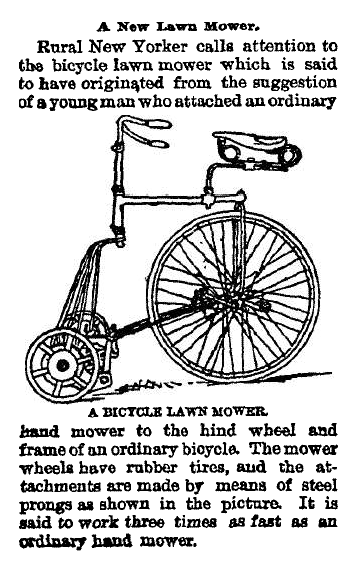 The popularity of bicycles led to all sorts of ingenuous uses for them as shown in this June 25, 1896 Fort Collins Courier article.