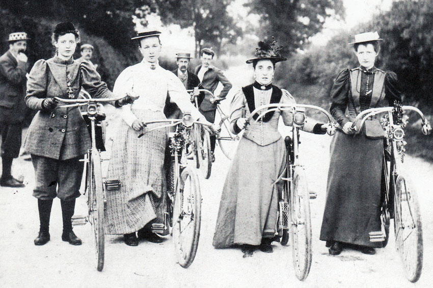 Women's clothing began to change in order to accommodate this new form of transportation.