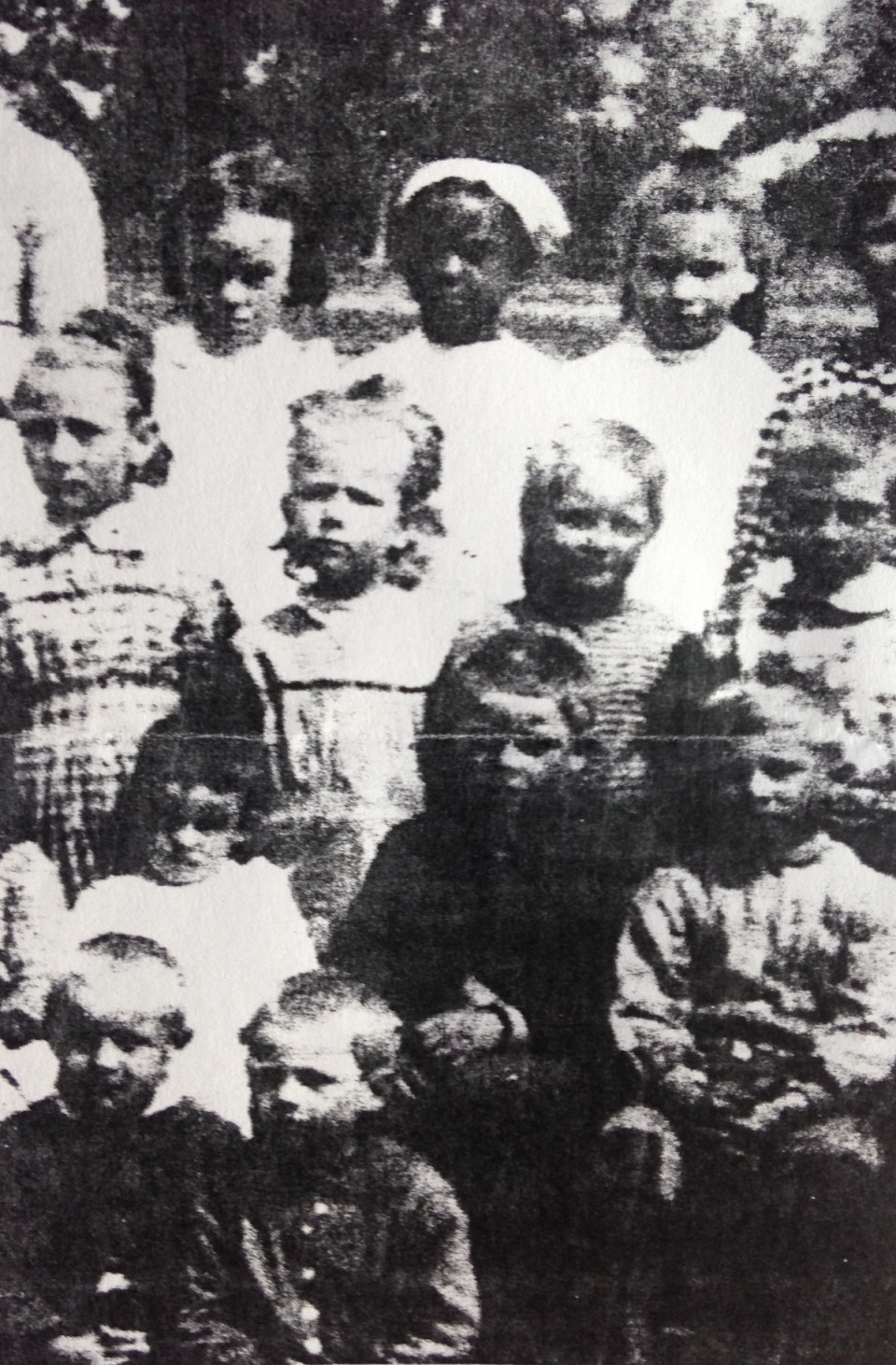 Hattie stands out in this classroom photo. (From the collection of Josephine Clements.)