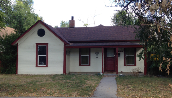 310 N. Meldrum, where Harkless and Josie Hicks lived. (The large circular opening in front was probably added in the 70s.)