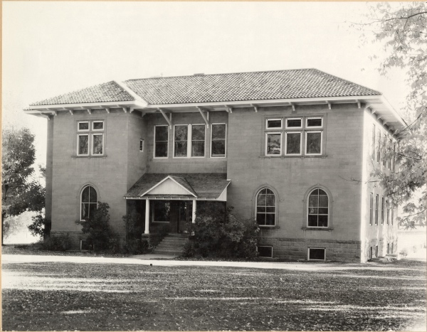 The Chemistry building was rebuilt, using the same foundation & exterior walls, opened in Dec. 1922. It was renamed Botany. (Colorado State University Archive ID #UHPC_11109)