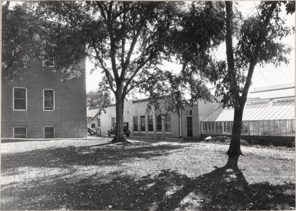 The backside of Botany and the Botany Annex on October 10, 1931. (Colorado State University Archive ID #UHPCSNP_12818)