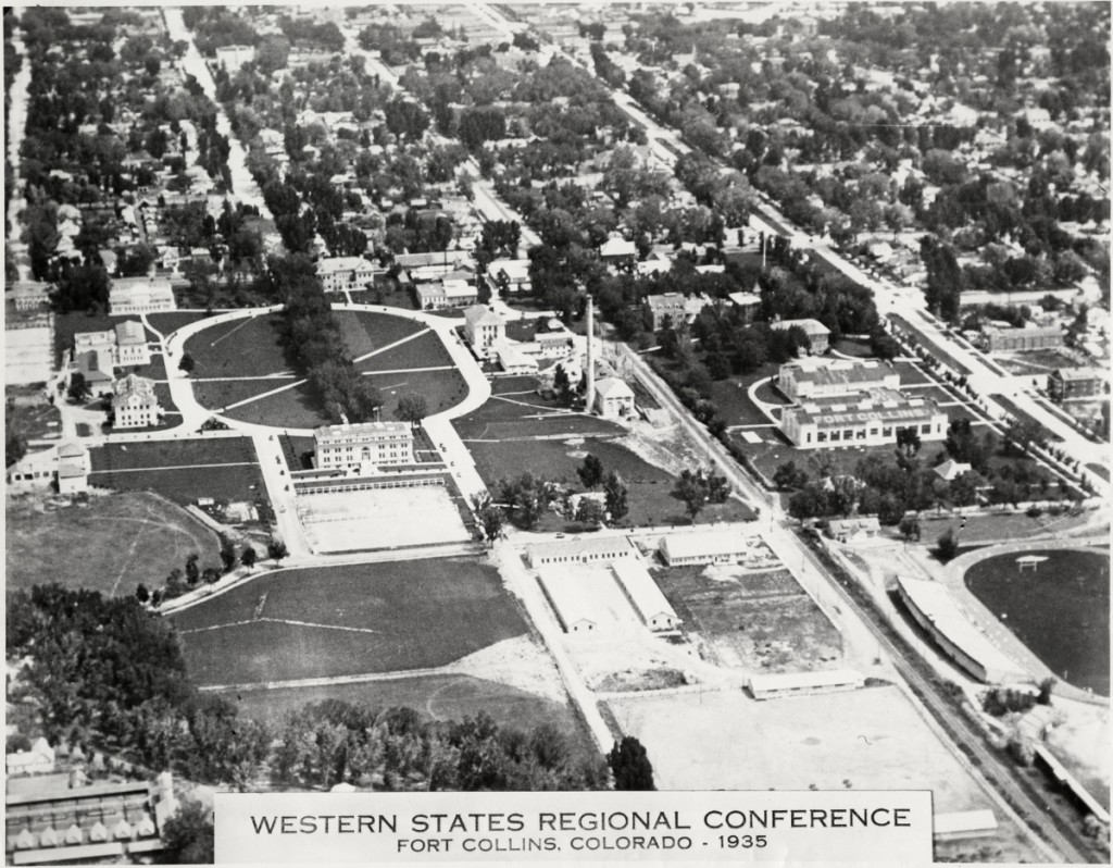 This 1935 aerial photo is from the CSU Digital Archive -- Print #13685. ID#: UHPCS05C603123.