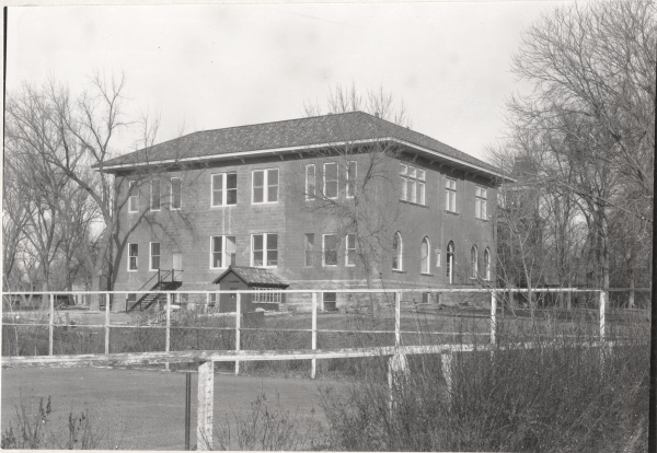 This is the back side of the rebuilt Chemistry building that was then used for botany. (Colorado State University Archive ID #UHPCSNP_2820)