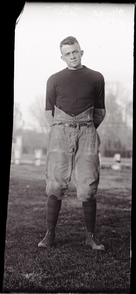 Aggie football player E.D. House in 1921. Possibly E.B. House Jr.? (Colorado State University Archive ID #UHPC_1989)