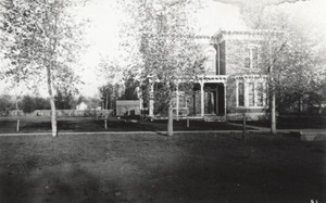 The Andrew Armstrong residence on S. College, just to the north of where the Armstrong Hotel is today.