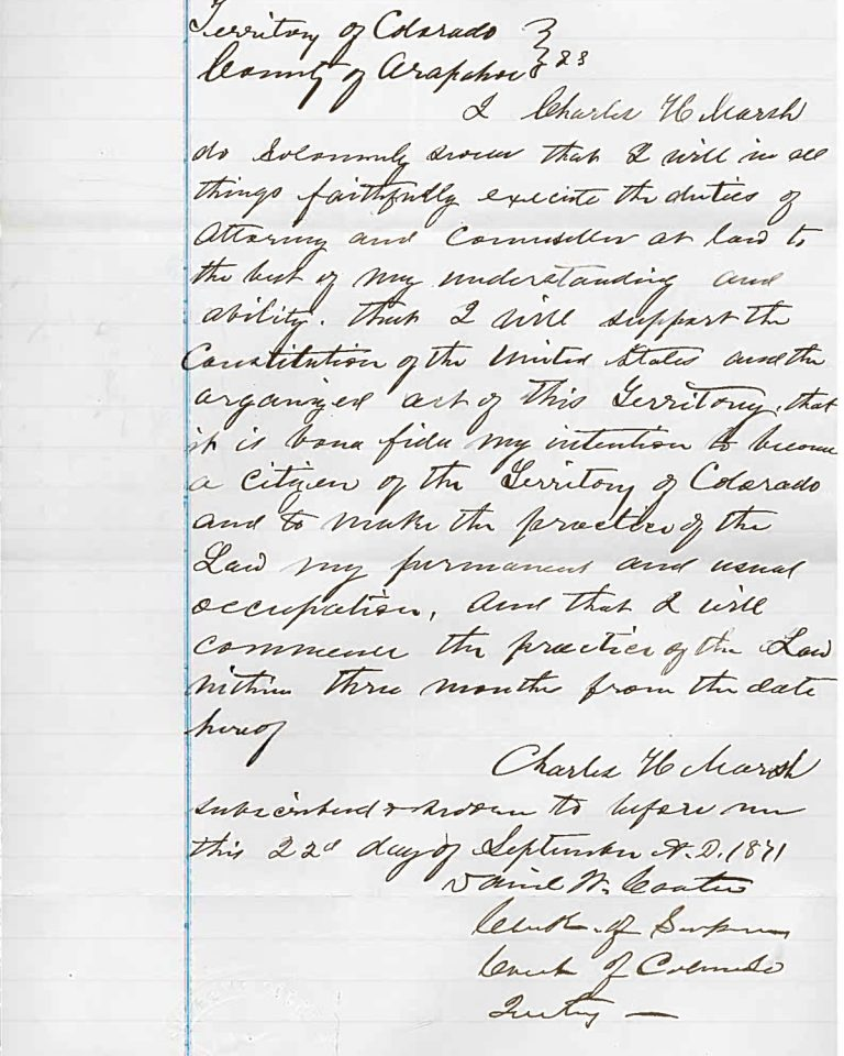 H bar oath by Charles Marsh
