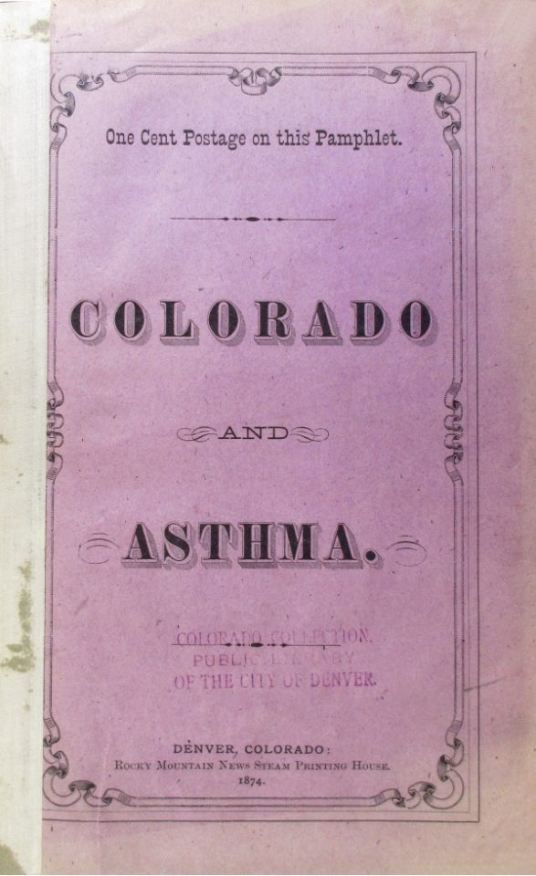 Colorado and Asthma Pamphlet Cover