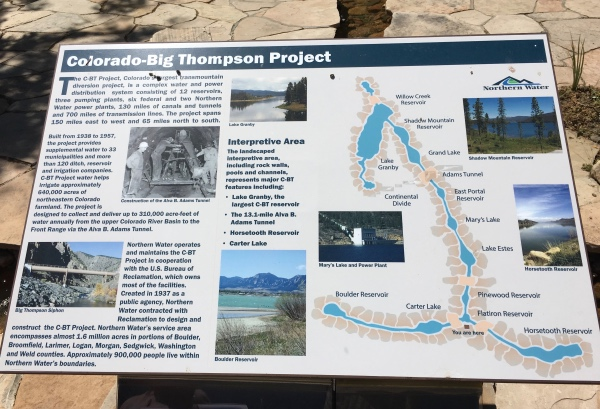 Interpretative Sign at the Northern Colorado Water Conservancy District office in Berthoud.