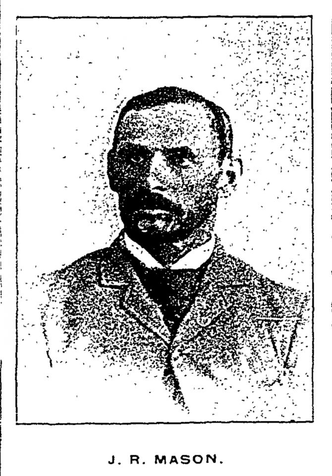 This picture of J. R. Mason was in the January 1, 1894 Fort Collins Express newspaper. The special edition focused on the notable people of Larimer County. Almost an entire page was devoted to James Mason.