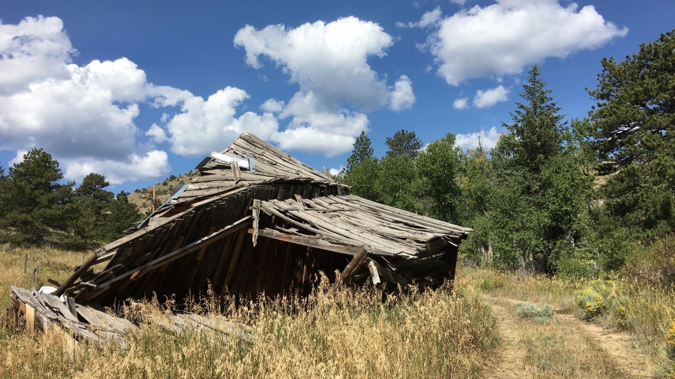 Jack Cooper built a cabin and a barn during the time he was on the property. The barn sustained damage in 2014 after heavy snow.