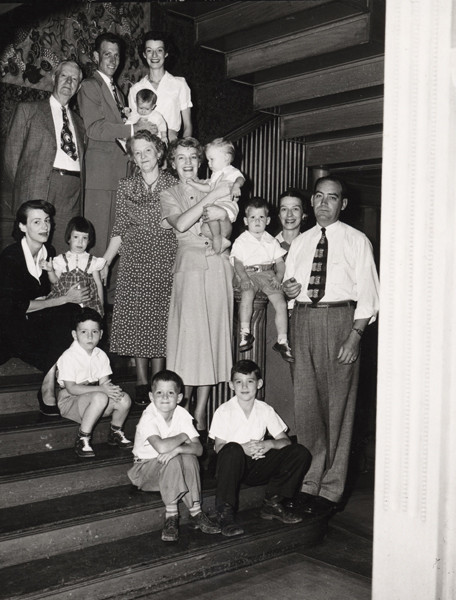 A reunion of the Evans family was held in 1950, a year before the house was demolished. (Photo from the Fort Collins Archive - H08433C.)