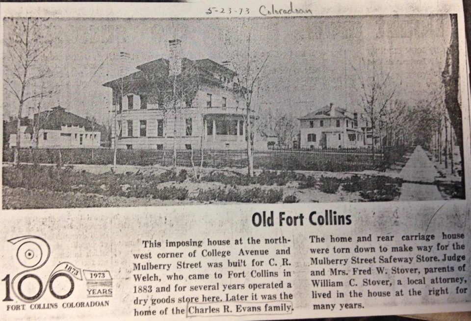 This clipping was taken from the May 23, 1973 Coloradoan and is on file at the Fort Collins Archive.