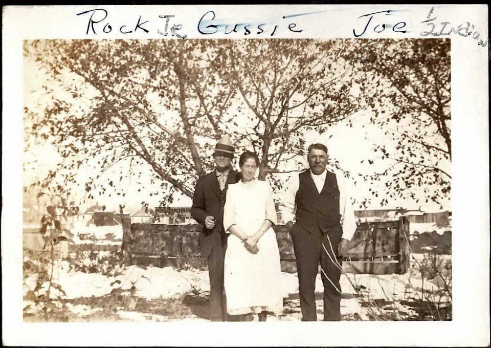 Rock Jr, Gussie, and Joe (Photo from Joseph Lariviere via Ancestry.com.)