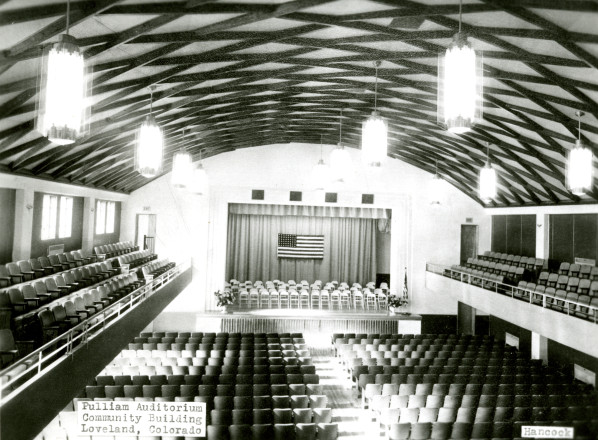 The Loveland (Pulliam) Community Building as it looked in the 1940s. (Photo from the Fort Collins Archive #Ha20129)