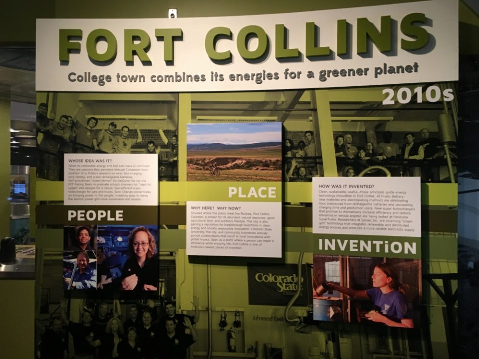 The Smithsonian has an installation that shows important places of innovation through the decades. Fort Collins represents the 2010s.