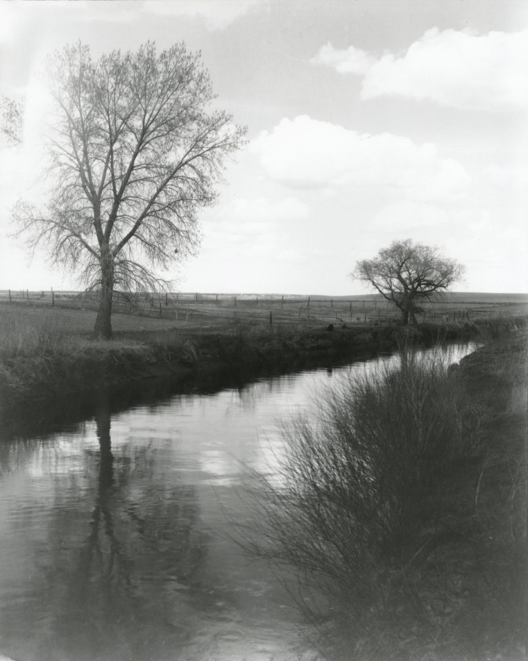 An irrigation ditch in 1930. (CSU Digital Archive)
