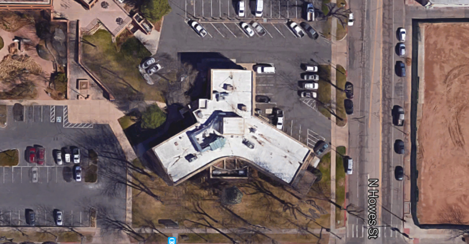 This overhead view from Google Maps clearly shows the Y-shaped design that Bill Robb employed.