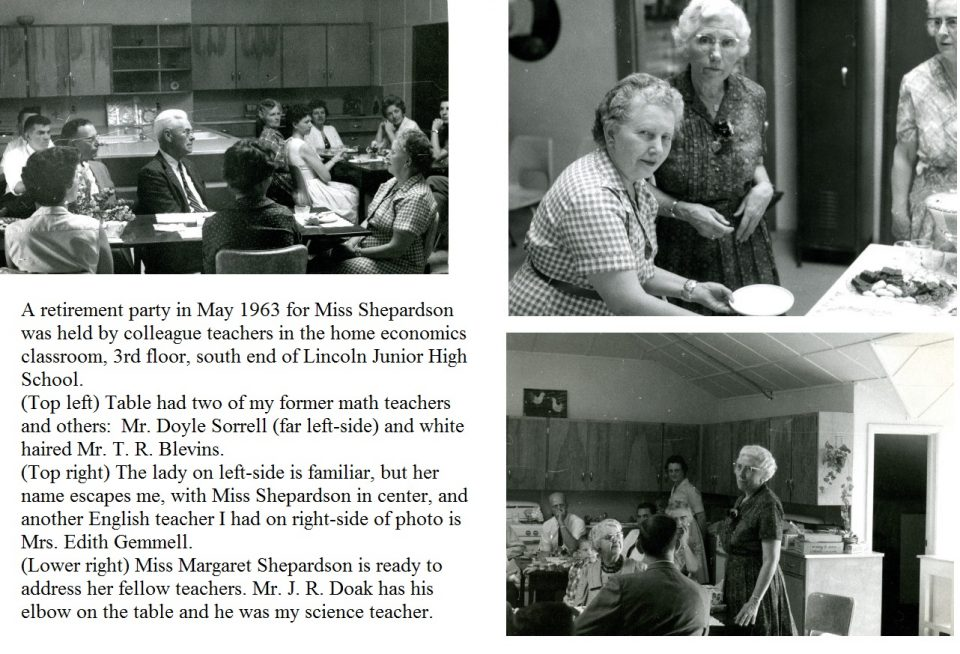 Exhibit 12 – Retirement party for Miss Shepardson in May 1963 at Lincoln Jr. High School.