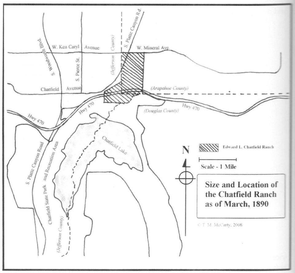 Exhibit 4 – Map of Edward L. Chatfield Ranch in 1890 (near Littleton)