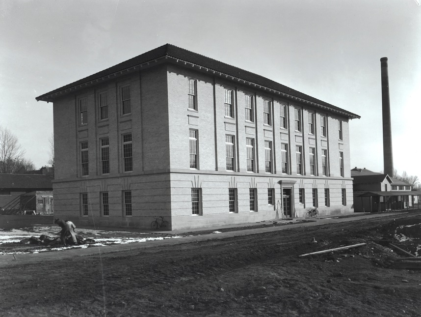 Exhibit 6 – CAC Physics building and mess hall on east side of oval in 1920